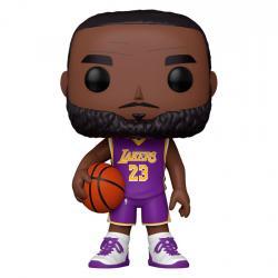 Figura POP NBA Lakers LeBron James Purple Jersey 25cm - Imagen 1