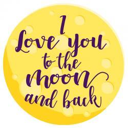 Toalla redonda I Love You To The Moon And Back microfibra - Imagen 1