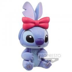 Figura Stitch - Stitch and Angel Disney Characters Fluffy Puffy Q Posket 6cm - Imagen 1