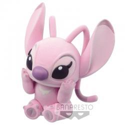 Figura Angel - Stitch and Angel Disney Characters Fluffy Puffy Q Posket 6cm - Imagen 1