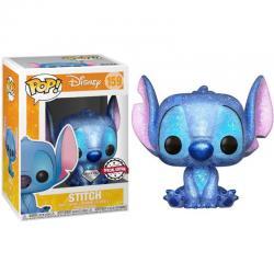 Figura POP Disney Stitch Seated Diamond Glitter Exclusive - Imagen 1
