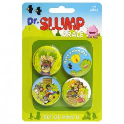 Set 4 pin Dr. Slump - Imagen 1