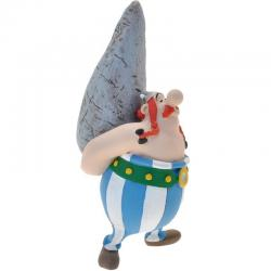 Figura Obelix con Menhir Asterix El Galo 9cm - Imagen 1