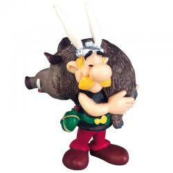 Figura Asterix con Jabali Asterix El Galo 6cm - Imagen 1