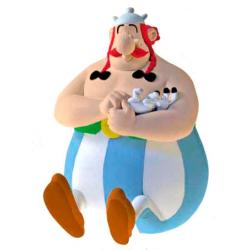 Figura hucha Obelix Sentado Asterix El Galo 17cm - Imagen 1