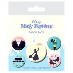 Set 5 chapas Mary Poppins Disney - Imagen 1