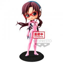Figura Mari Makinami Illustrious Plugsuit Style Evangelion Movie Q Posket B 14cm - Imagen 1