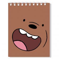 Libreta Oso Pardo We Bare Bears - Imagen 1