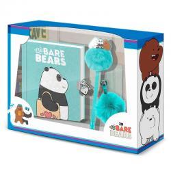 Set diario + boligrafo + pompon Oso Panda We Bare Bears - Imagen 1