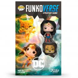Juego mesa Ingles POP Funkoverse DC Comics Wonder Woman 2fig - Imagen 1