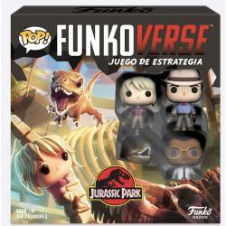 Juego mesa POP Funkoverse Jurassic Park 4fig Español - Imagen 1