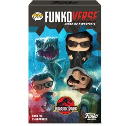 Juego mesa POP Funkoverse Jurassic Park 2fig Español - Imagen 1