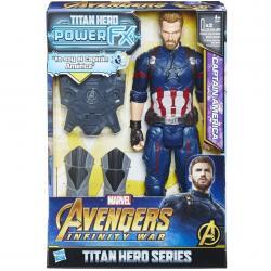 Figura Titan Hero Power FX Capitan America Vengadores Marvel 30cm - Imagen 1