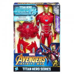 Figura Titan Hero Power FX Iron Man Vengadores Avengers Marvel 30cm - Imagen 1