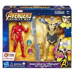 Set figuras Iron Man vs Thanos Vengadores Avengers Marvel - Imagen 1
