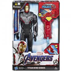 Figura Titan Hero Power Iron Man Vengadores Marvel 30cm - Imagen 1
