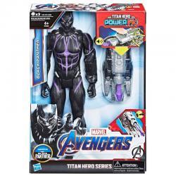Figura Titan Hero Power FX Black Panther Marvel 30cm - Imagen 1