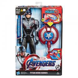 Figura Titan Power FX Capitan America Vengadores Avengers Marvel 30cm - Imagen 1