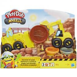 Excavadora y Cargadora Wheels Play-Doh - Imagen 1
