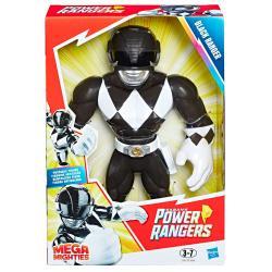 Figura Mega Mighties Black Ranger Power Rangers 25cm - Imagen 1