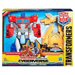 Figura Cyberverse Ark Power Optimus Prime Transformers 27cm - Imagen 1