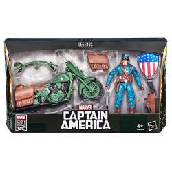 Set figura y vehiculo Capitan America Marvel Legends - Imagen 1