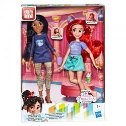 Set 2 muñecas Ariel + Pocahontas Ralph Rompe Internet Disney - Imagen 1