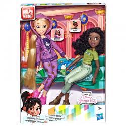 Set 2 muñecas Rapunzel + Tiana Ralph Rompe Internet Disney - Imagen 1