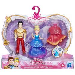 Set 2 figuras Royal Clips Cenicienta Princesas Disney 9cm - Imagen 1