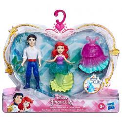 Set 2 figuras Royal Clips La Sirenita Princesas Disney 9cm - Imagen 1