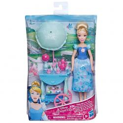 Muñeca Cenicienta Carrito de Te Cenicienta Princesas Disney 28cm - Imagen 1