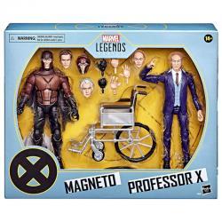 Set 2 figuras Magneto y Professor X 20 Aniversario Xmen Legends Marvel 15cm - Imagen 1