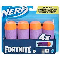 Recarga 4 dardos Rocket Fortnite Nerf - Imagen 1