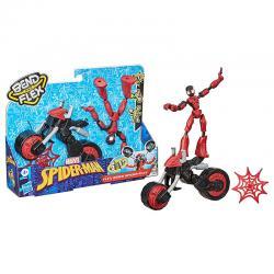 Figura Bend and Flex Rider Spiderman Marvel 15cm - Imagen 1