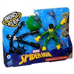 Set 2 figuras Bend and Flex Spiderman vs Doc Ock Marvel 15cm - Imagen 1