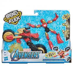Figura Bend and Flex Rider Iron Man Marvel 15cm - Imagen 1