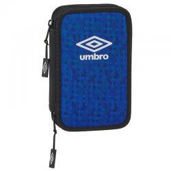 Plumier Umbro Black & Blue doble 28pzs - Imagen 1