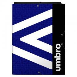 Carpeta A4 Umbro Black & Blue solapas - Imagen 1