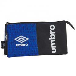 Portatodo Umbro Black & Blue triple - Imagen 1