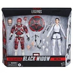 Set 2 figuras Red Guardian y Melina Black Widow Marvel 15cm - Imagen 1