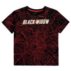 Camiseta mujer City Map Black Widow Marvel - Imagen 1