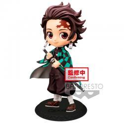 Figura Tanjiro Kamado Kimetsu No Yaiba Q Posket A 14cm - Imagen 1