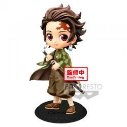 Figura Tanjiro Kamado Kimetsu No Yaiba Q Posket B 14cm - Imagen 1