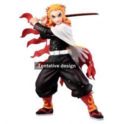 Figura Ichibansho Kyojuro Rengoku Mugen Train Demon Slayer Kimetsu No Yaiba 20cm - Imagen 1