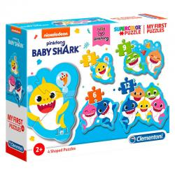 Puzzle My First Puzzle Baby Shark 3-6-9-12pzs - Imagen 1
