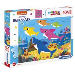 Puzzle Maxi Baby Shark 104pzs - Imagen 1
