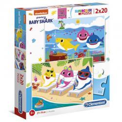 Puzzle Baby Shark 2x20pzs - Imagen 1