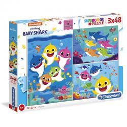 Puzzle Baby Shark 3x48pzs - Imagen 1