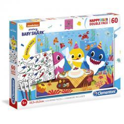 Puzzle Happy Color Baby Shark 60pzs - Imagen 1