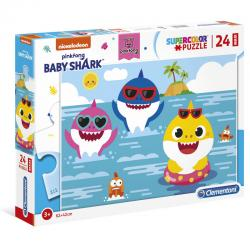 Puzzle Maxi Baby Shark 24pzs - Imagen 1